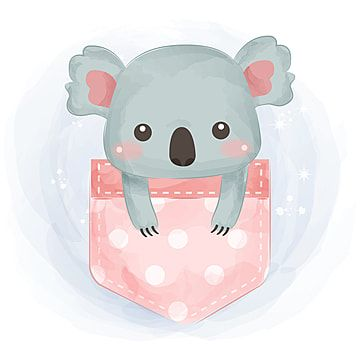 Cute Koala Illustration Koala Clipart Adorable Animal Png And Vector With Transparent Background For Free Download Illustration Koala Koala Illustration