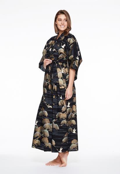 9a3b823da Womens Plus Size Cotton Kimono Robe
