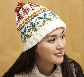 Bernat Mosaic and Bernat Super Value - Fair Isle Hat (knit)