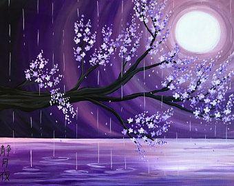 Sakura Painting Cherry Blossom Tree Cherry Blossom Wallpaper Cherry Blossom Painting Cherry Blossom Art