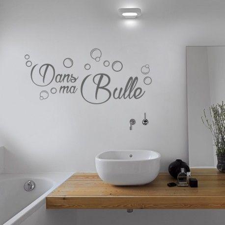 Sticker Dans Ma Bulle Art Mural Salle De Bains Stickers Salle De Bain Decoration Murale Salle De Bains