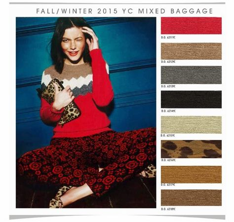 DESIGN OPTIONS is a Los Angeles based trend and color forecasting company, providing trends from a west coast perspective. For the Young Women's Contemporary Market, here is a preview of their Fall/Winter 2015 color palette.