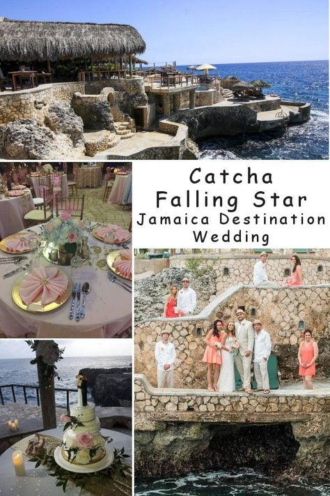 Overlooking the Caribbean Sea,Catcha Falling Star Resortis the tropical destination wedding gem of Jamaica. This very intimate cliff resort is located on the Negril cliffs with a spectacular view that will simply take your breath away.  #CatchaFallingStarTropicalDestinationWeddingGemJamaica
