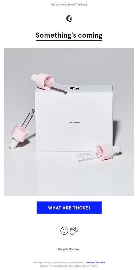 Why I love Glossier's email marketing   Econsultancy