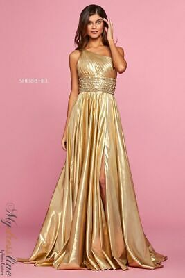 Sherri Hill 53305 Long Evening Dress Lowest Price Guarantee New Authentic Gown Fashion Clothing Shoes Accessorie In 2020 Metallic Prom Dresses Prom Dresses Dresses