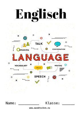 Englisch Deckblatt Vokabeln Deckblatt Schule Schule Logo Deckblatt