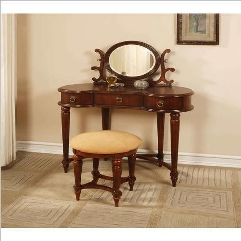 Stupendous Kidney Shaped Vanity Table Of Powell Antique Gmtry Best Dining Table And Chair Ideas Images Gmtryco