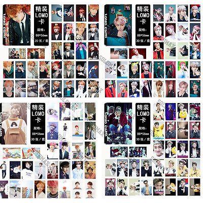 Kpop 30pcs Bts Love Yourself Lomo Card Jimin Bangtan Boys Photocard J Hope Lomo Card Bts Love Yourself Photocard