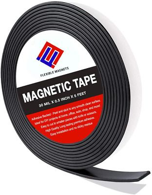 Sponsored Ebay Adhesive Magnetic Strip Flexible Magnet Tape 2 Inch X 10 Feet X 1 16 Thick Ver In 2020 Adhesive Magnetic Strips Magnetic Strip Flexible Magnet