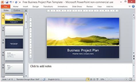 Free Business Project Plan Template for Microsoft PowerPoint - business plan templates microsoft