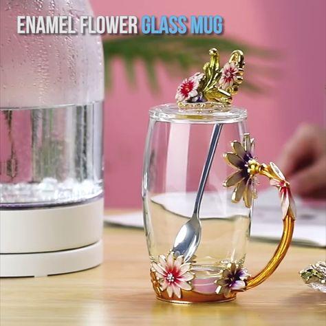 Enamel Glass Coffee Cup Mug