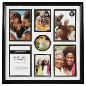 Special Moments Black 7 Photo Collage Frame 12x12 In Framed Photo Collage Distressed Picture Frames Family Photo Frames