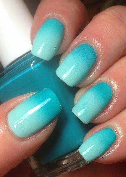 43 Ideas Nails Ombre Blue Colour Turquoise Nails Mint Green