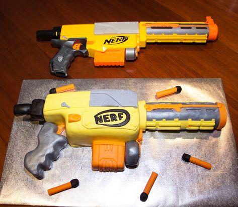 Pin Tags Nerf Gun Cake On Pinterest