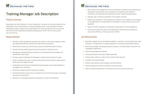 Social Media Manager Job Description - A template to quickly - project manager job description