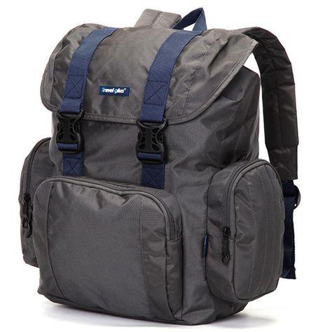 Kvalitní školní a cestovní batoh modrý - Travel plus 0100  d1ead320e4