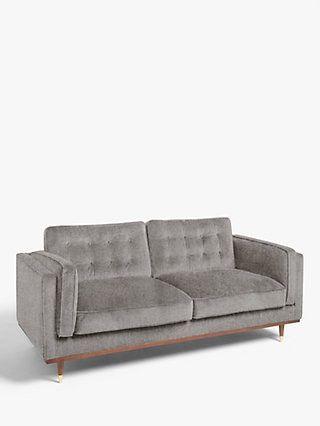 John Lewis Partners Swoon Lyon Large 3 Seater Sofa Caspian Blue Velvet Sofa Seater Sofa 2 Seater Sofa