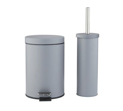 Buy Argos Home Slow Close Bin Toilet Brush Set Flint Grey Bathroom Sets And Fittings Argos Home Grey Bathrooms Toilet Brush Bathroom Accessories