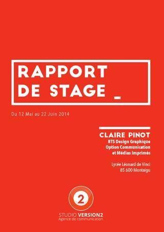 Rapport De Stage Bts Design Graphique Rapport De Stage Bts Stage