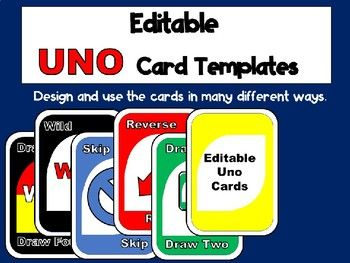 Use This Editable Uno Card Template To Design And Create Learning Games For Your Classroom Use For Ideas Like Uno Cards Card Games For Kids Gym Games For Kids