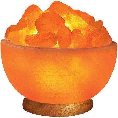 Himalayan Ionic Salt Crystal Bowl Lamp, Orange