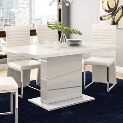 Orren Ellis Didymos Dining Table Orren Ellis Modern Dining Table White Dining Table Modern Small Dining Table