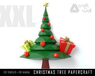Diy Christmas Tree Papercraft Pdf Template Paperblog Paper Crafts Diy Christmas Tree Christmas Diy