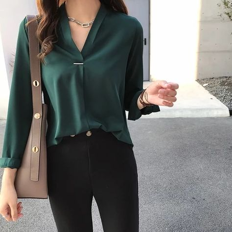 Women chiffon blouse shirt long sleeve women shirts fashion tops and blouses