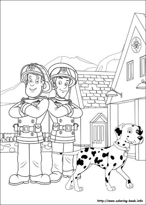 fireman sam coloring picture  ausmalbilder feuerwehrmann