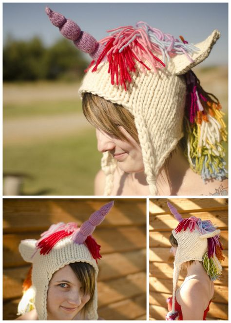 DIY Knit Unicorn Hat Free Pattern Download by Brittany Tyler on Ravelry.  This project is rated as intermediate. Halloween e45169e5dee