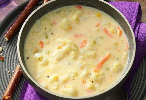 Soupe crémeuse au chou-fleur