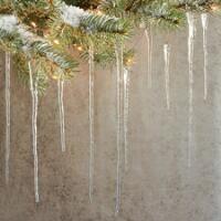Glass Icicles Robert Redford S Sundance Catalog Diy Icicle Ornaments Christmas Tree Decorations Christmas Interiors