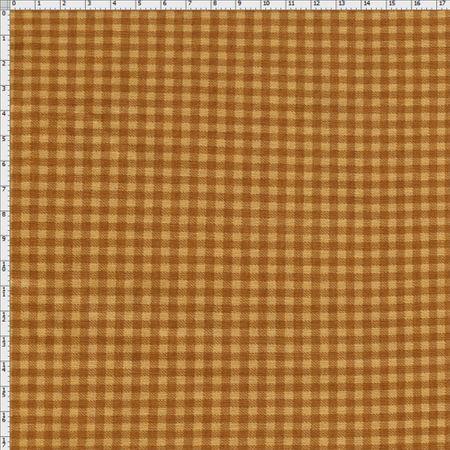 4ca8ac0966 Tecido Estampado para Patchwork - Xadrez Caramelo (0,50x1,40) - Bazar