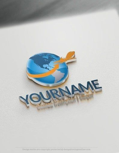 Free Travel Logo Generator Online Plane Flying Logo Logo Design Software Best Logo Design Logo Design Free