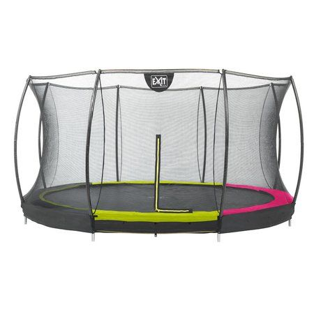 Exit Trampolin Silhouette Ground Sicherheitsnetz Gartentrampolin Trampolin Bodentrampolin