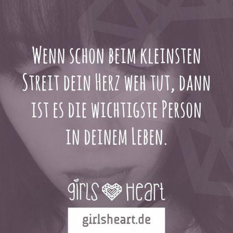 Mehr Sprüche auf: www.girlsheart.de  #partner #freundin #liebe #herz #streit #relationship