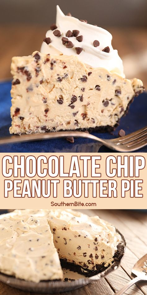 Frozen Desserts, Easy Desserts, Delicious Desserts, Yummy Food, Peanut Butter Desserts, Butter Pie, Pie Dessert, Sweet Recipes, Candy Recipes