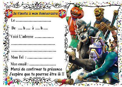 carte anniversaire fortnite a imprimer