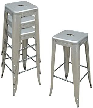 30 Inch Metal Bar Stools Counter Bar Height Stools Set Of 4 Dinning Stools Pub Stools For Bar Home Kitchen Restaurant B Metal Bar Stools Pub Stools Bar Stools 30 inch metal bar stools