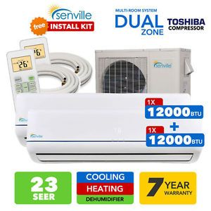 A 28000 Btu Dual Zone Ductless Mini Split Air Conditioner And Heat Pump 23 Seer