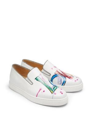 cd178a7d5 Saks Fifth Avenue Mobile. CHRISTIAN LOUBOUTIN | Loubi Love Leather Sneakers  #Shoes #CHRISTIAN LOUBOUTIN