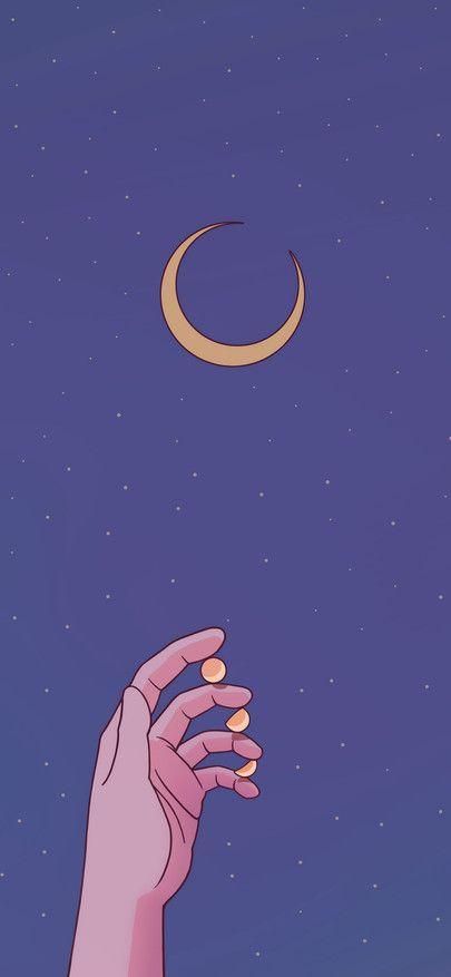 Moon Crescent Hand Purple Starry Sky Wallpapers For Iphone11 Iphone11 Pro Iphone 11 P In 2020 Purple Wallpaper Iphone Aesthetic Iphone Wallpaper Iphone Wallpaper