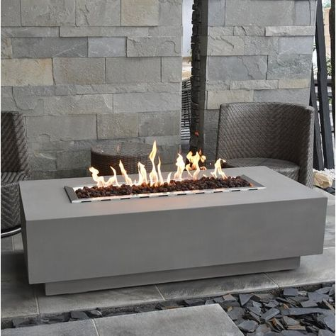 Sol 72 Outdoor Tomas Concrete Propane Fire Pit Table In 2020