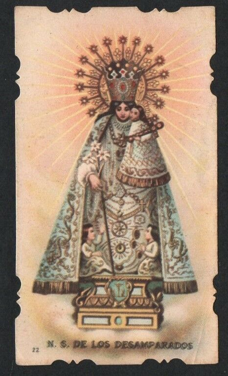 Holy card antique de la Virgin estampa image pieuse andachtsbild santino