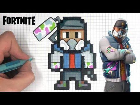 Tuto Dessin Roi Des Glaces Pixel Art Fortnite
