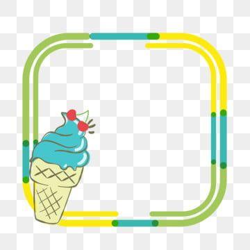 Cartoon Ice Cream Border Ice Cream Border Frame Ice Cream Frame Frame Vector Border Vector Png And Vector With Transparent Background For Free Download Ice Cream Cartoon Frame Border