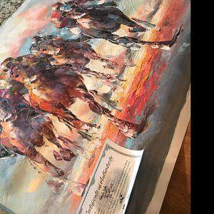 Savannah Willis Canvas Painting Horse Canvas Painting Painting