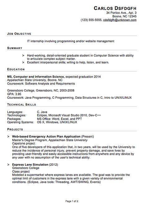 Resume Templates You Can Download 3 Work Pinterest Resume   Sample Internship  Resumes  It Intern Resume