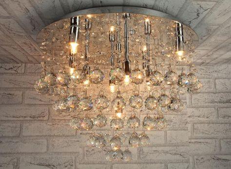 Plafoniere Cristallo E Acciaio : Lampadario moderno plafoniera lampada soffitto acciaio cromo