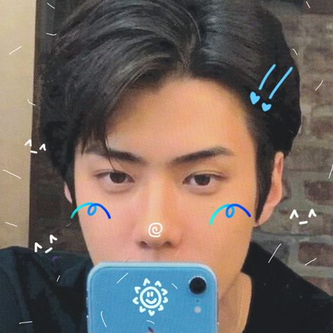 reqs are: closed — e x o ─ 세 훈 ✎ doodle icons ✦ please ✦ like or. Jooheon, K Pop, Sehun Cute, Twitter Icon, Kpop Exo, Cybergoth, Cute Icons, Kpop Aesthetic, Photo Editing